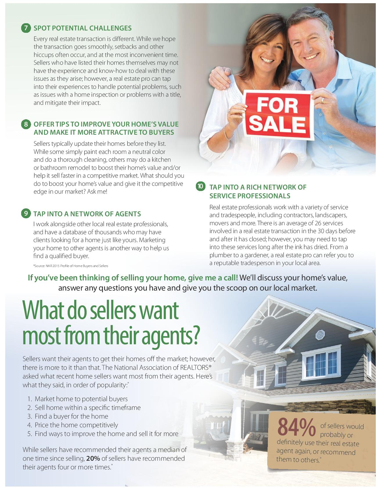 10 Reasons You Need A Real Estate Pro to Sell Your Home Part 2