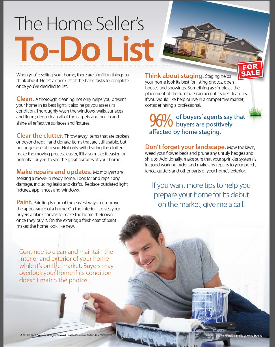 July 2015 Newsletter Tips For Selling Your Home