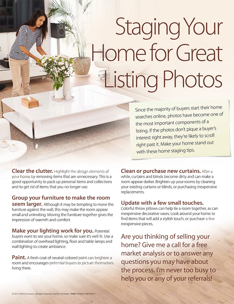 Staging Your Home For Great Listing Photos