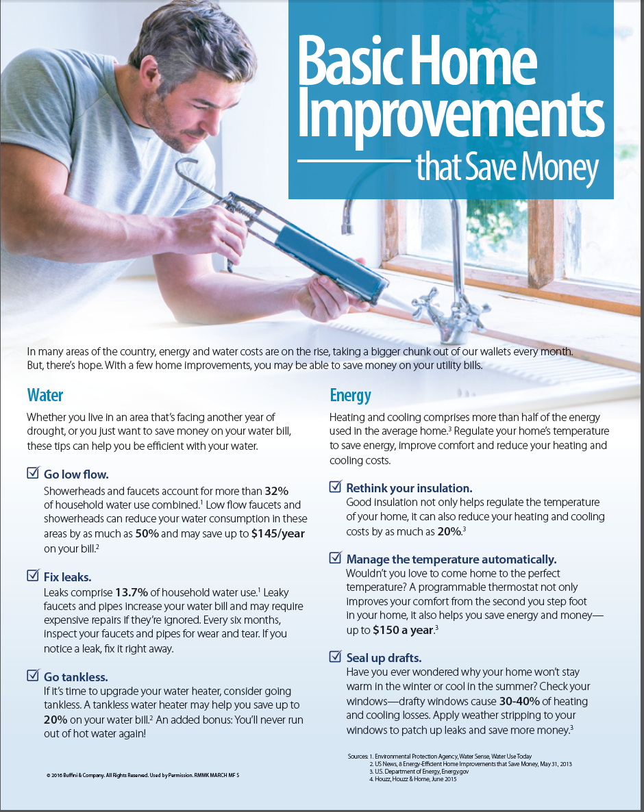 Basic Home Improvements That Save Money