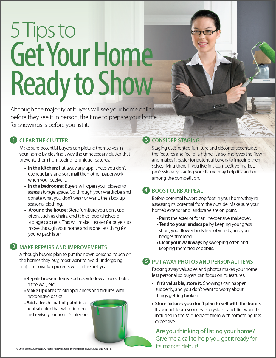 5 tips to get your home ready to sell