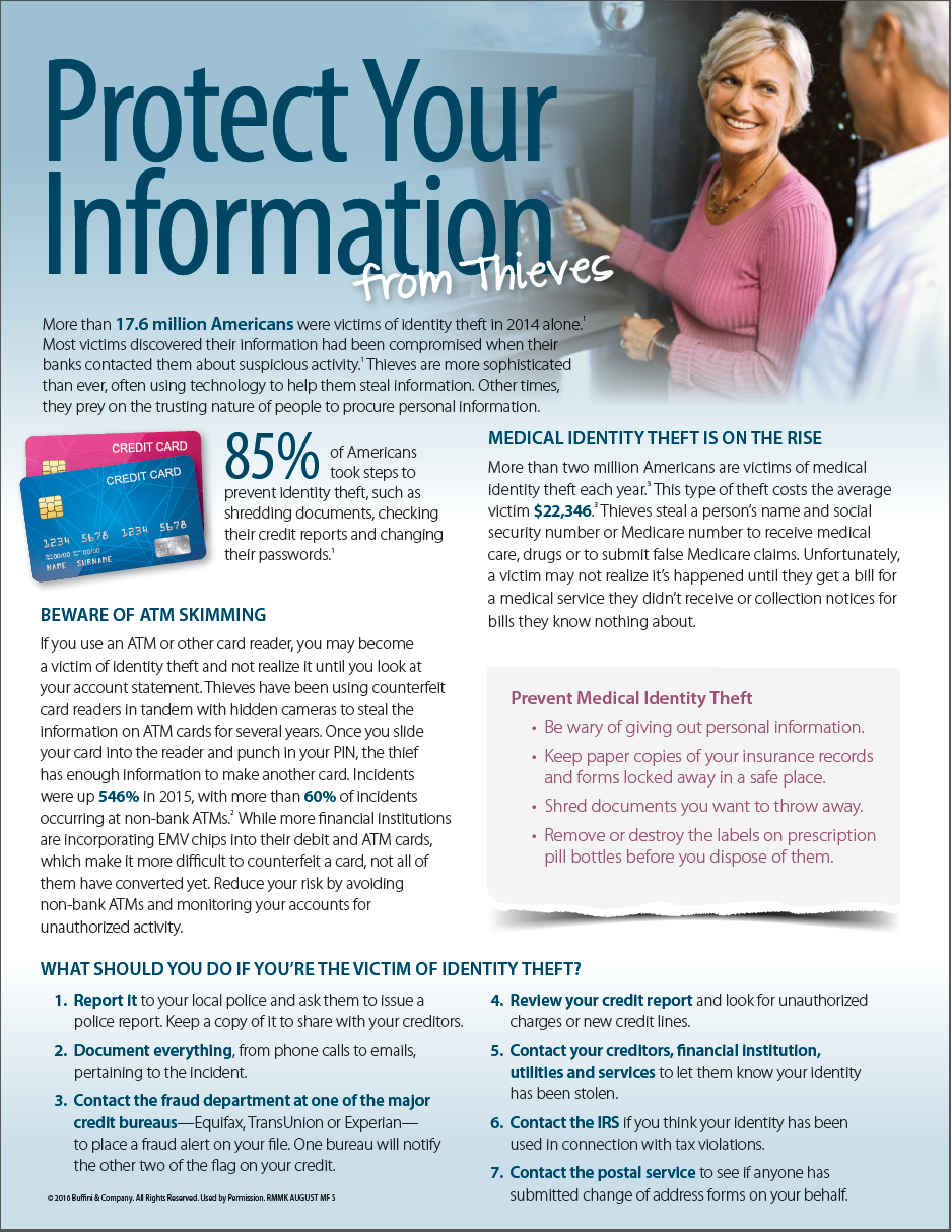 Protect Your Information 1 of 2